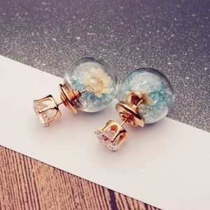 🌸Crystal Double-Side Glass Ball Earrings🌸